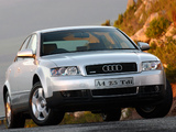 Pictures of Audi A4 2.5 TDI quattro Sedan ZA-spec B6,8E (2000–2004)