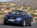 Pictures of Audi A4 3.0 Cabrio B6,8H (2001–2005)
