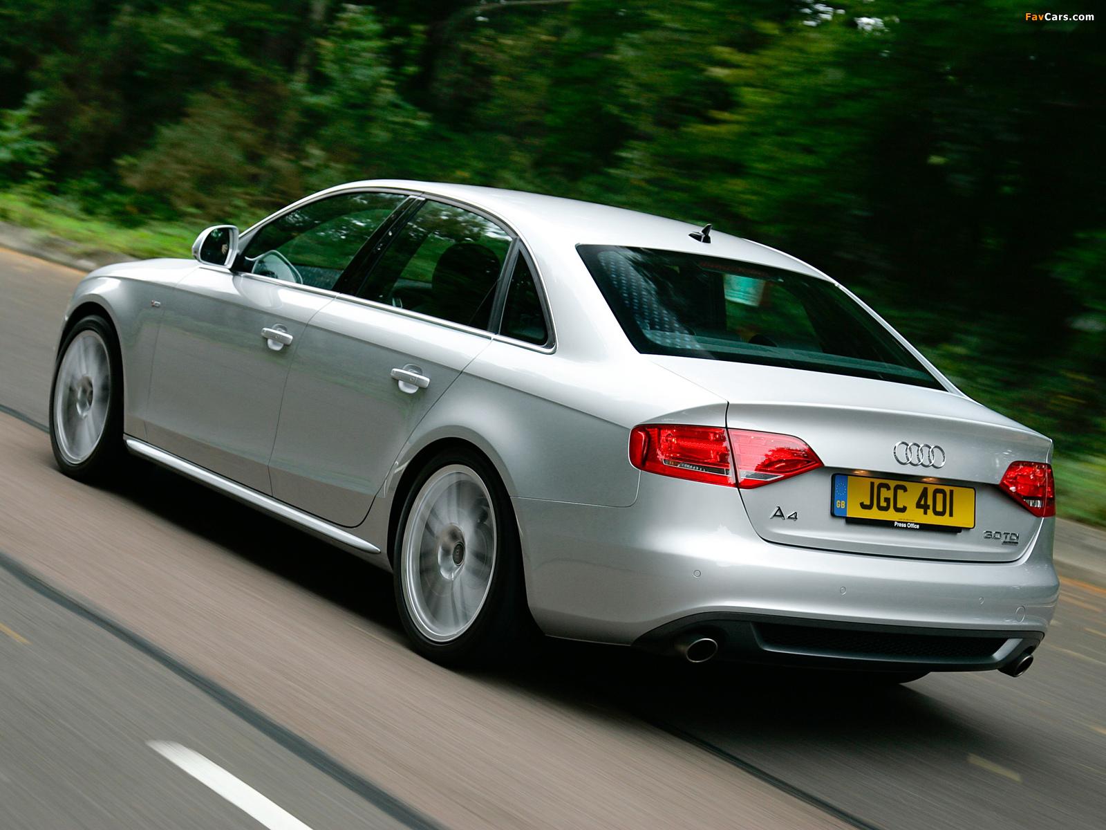 Pictures Of Audi A4 3 0 Tdi S Line Sedan Uk Spec B8 8k