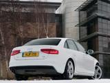 Pictures of Audi A4 2.0T quattro S-Line Sedan UK-spec (B8,8K) 2012