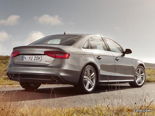 Pictures of Audi A4 3.0T quattro S-Line Sedan AU-spec (B8,8K) 2012 (640 x 480)