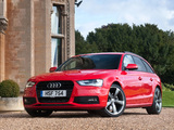 Audi A4 2.0T S-Line Avant UK-spec (B8,8K) 2012 wallpapers