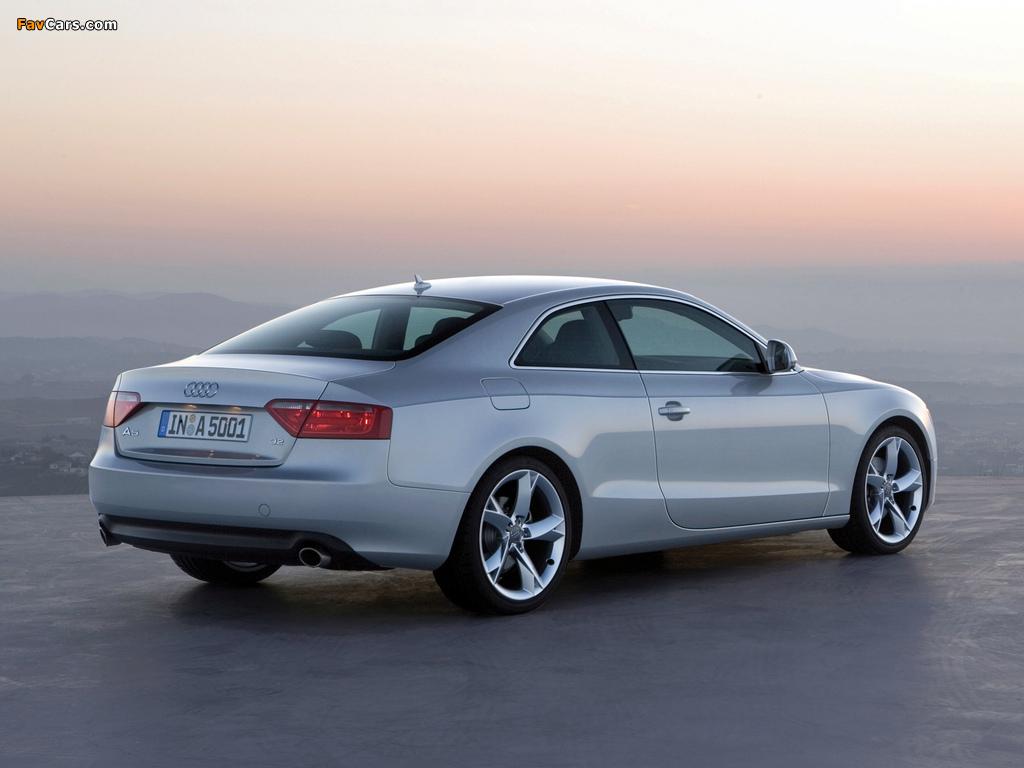 Audi A5 3.2 Coupe 2007–11 images (1024x768)
