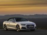 Images of Audi A5 Cabriolet 2.0 TFSI quattro S Line UK-spec 2017