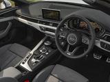 Photos of Audi A5 Cabriolet 2.0 TFSI quattro S Line UK-spec 2017