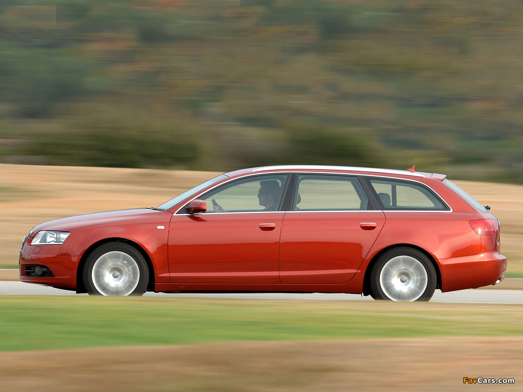 Audi A6 3.0 TDI quattro S-Line Avant ZA-spec (4F,C6) 2005–08 photos (1024 x 768)