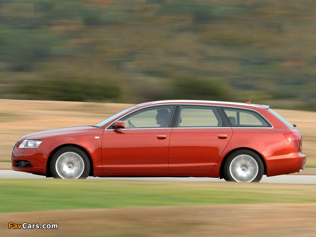 Audi A6 3.0 TDI quattro S-Line Avant ZA-spec (4F,C6) 2005–08 photos (640 x 480)