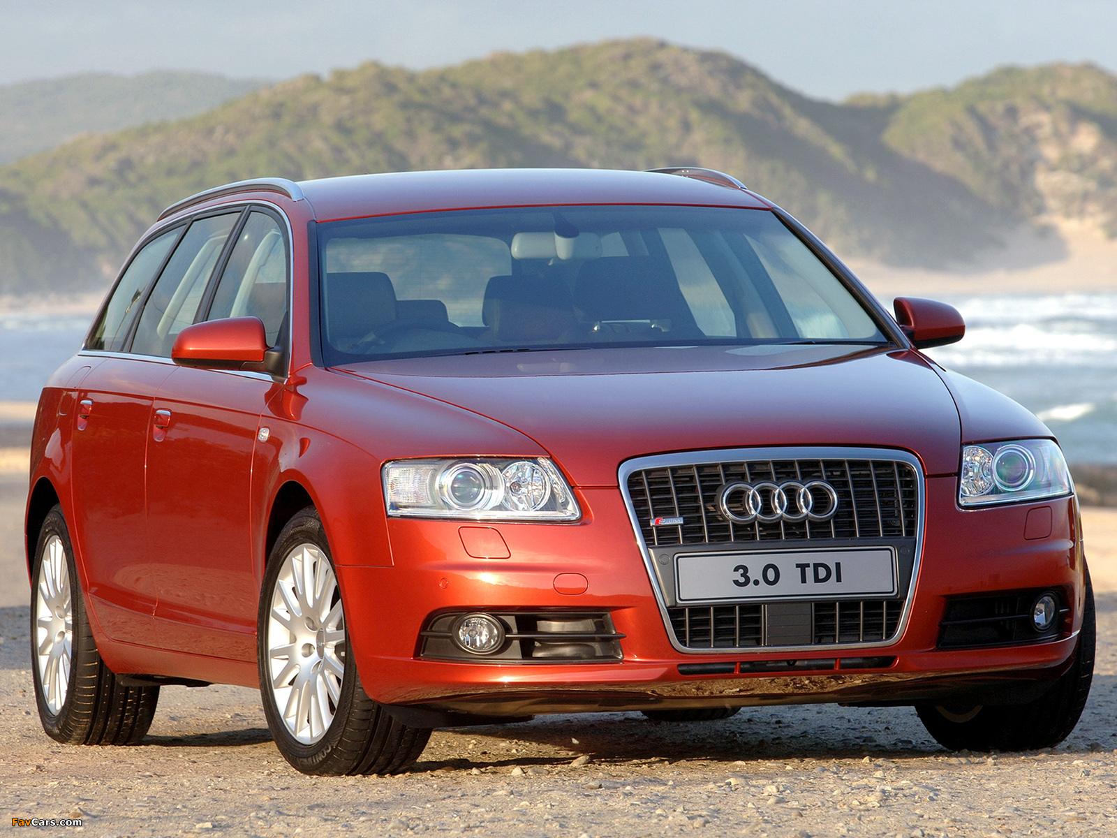 Audi A6 3.0 TDI quattro S-Line Avant ZA-spec (4F,C6) 2005–08 pictures (1600 x 1200)