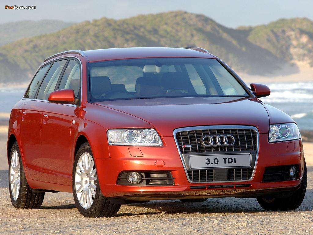 Audi A6 3.0 TDI quattro S-Line Avant ZA-spec (4F,C6) 2005–08 pictures (1024 x 768)