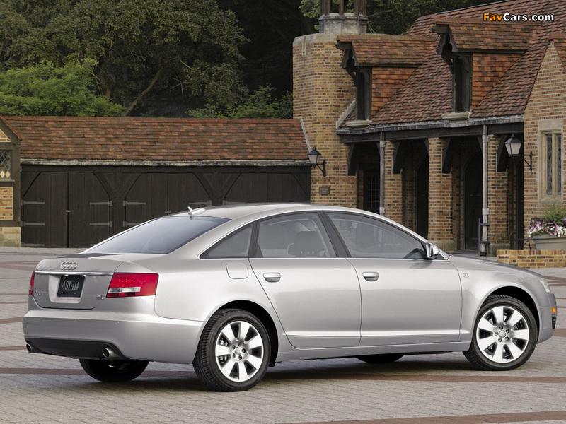 Audi A6 3.2 Sedan US-spec (4F,C6) 2005–08 wallpapers (800 x 600)