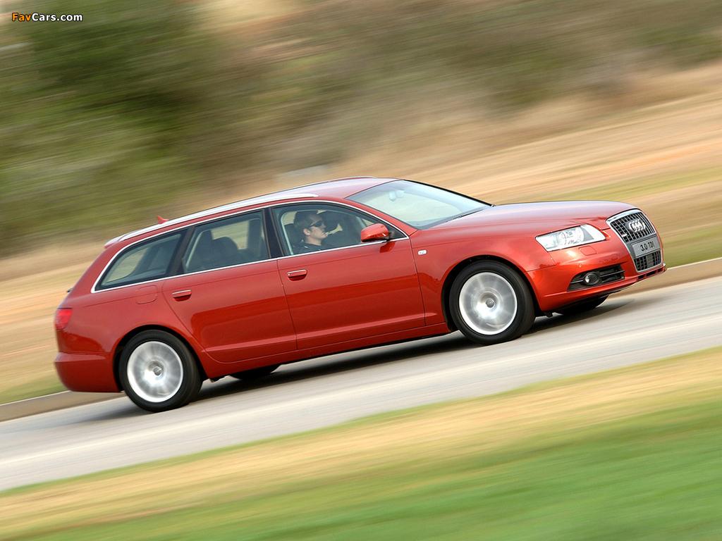 Photos of Audi A6 3.0 TDI quattro S-Line Avant ZA-spec (4F,C6) 2005–08 (1024 x 768)