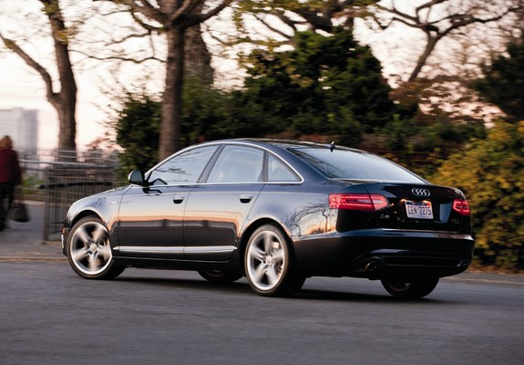 pictures of audi a6 3.0t quattro s-line sedan us-spec (4f,c6) 2008–11