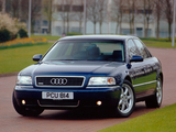 Photos of Audi A8 3.7 quattro UK-spec (D2) 1999–2002