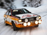 Audi Quattro Group B Rally Car (85) 1983–86 wallpapers