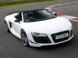 Audi R8 GT Spyder UK-spec 2011–12 images