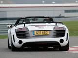 Audi R8 GT Spyder UK-spec 2011–12 photos