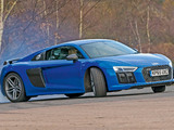 Audi R8 V10 Plus UK-spec 2015 wallpapers