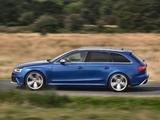 Audi RS4 Avant UK-spec (B8,8K) 2012 photos