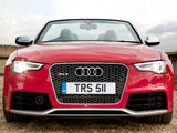 Audi RS5 Cabriolet UK-spec 2013 images