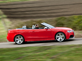 Audi RS5 Cabriolet UK-spec 2013 wallpapers