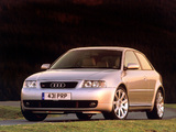 Photos of Audi S3 UK-spec (8L) 2001–03