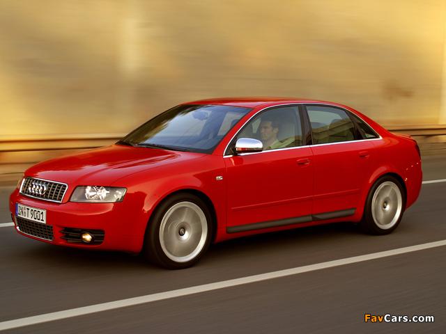Audi S4 Sedan (B6,8E) 2003–05 images (640 x 480)