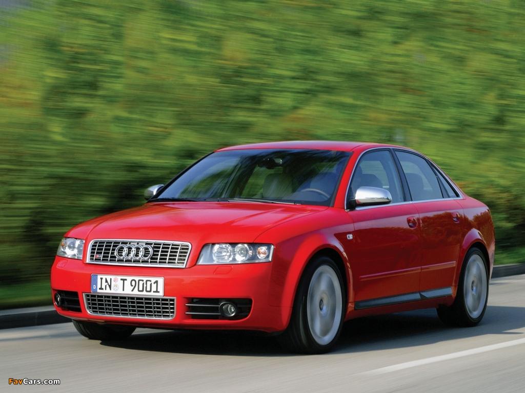 Audi S4 Sedan (B6,8E) 2003–05 photos (1024 x 768)