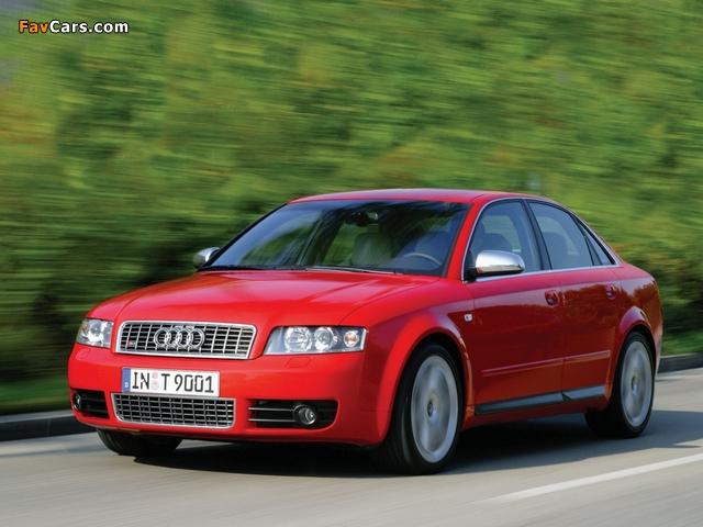 Audi S4 Sedan (B6,8E) 2003–05 photos (640 x 480)