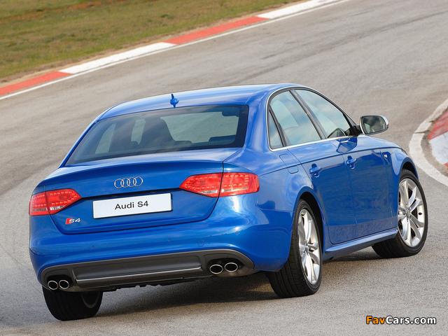 Audi S4 Sedan ZA-spec (B8,8K) 2009 images (640 x 480)