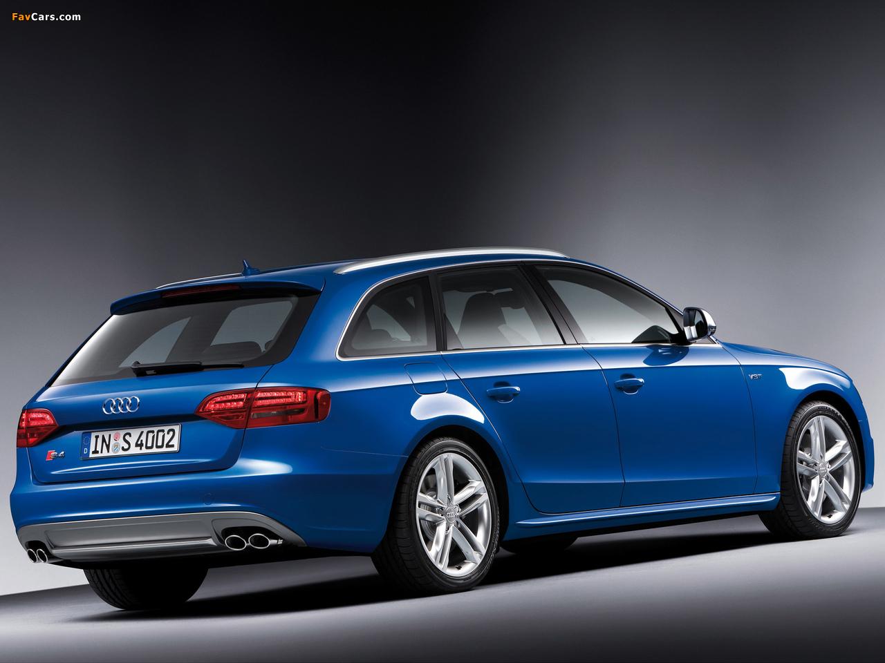 Audi S4 Avant (B8,8K) 2009–11 pictures (1280 x 960)