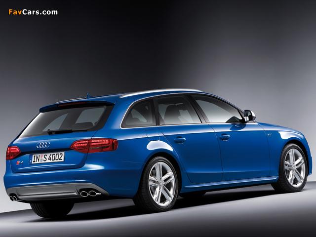 Audi S4 Avant (B8,8K) 2009–11 pictures (640 x 480)