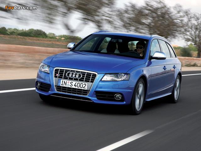 Audi S4 Avant (B8,8K) 2009–11 wallpapers (640 x 480)