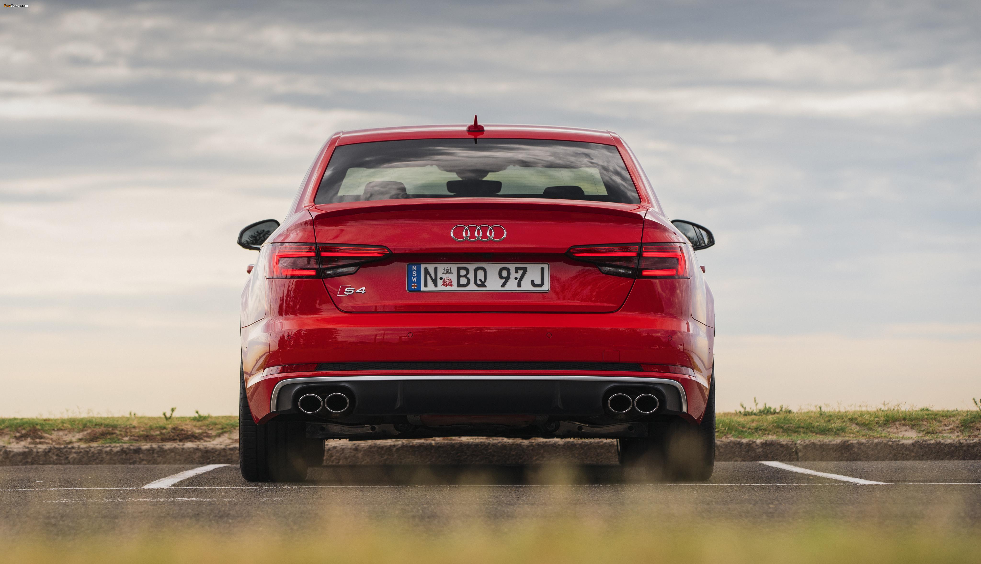 Audi S4 Sedan AU-spec (B9) 2017 wallpapers (4096 x 2354)
