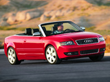 Photos of Audi S4 Cabrio US-spec (B6,8H) 2002–05
