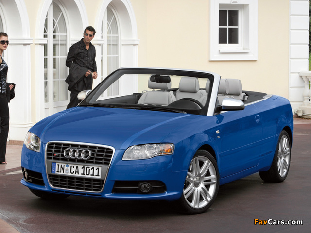 Audi S4 Cabriolet (B7,8H) 2007–08 wallpapers (640 x 480)