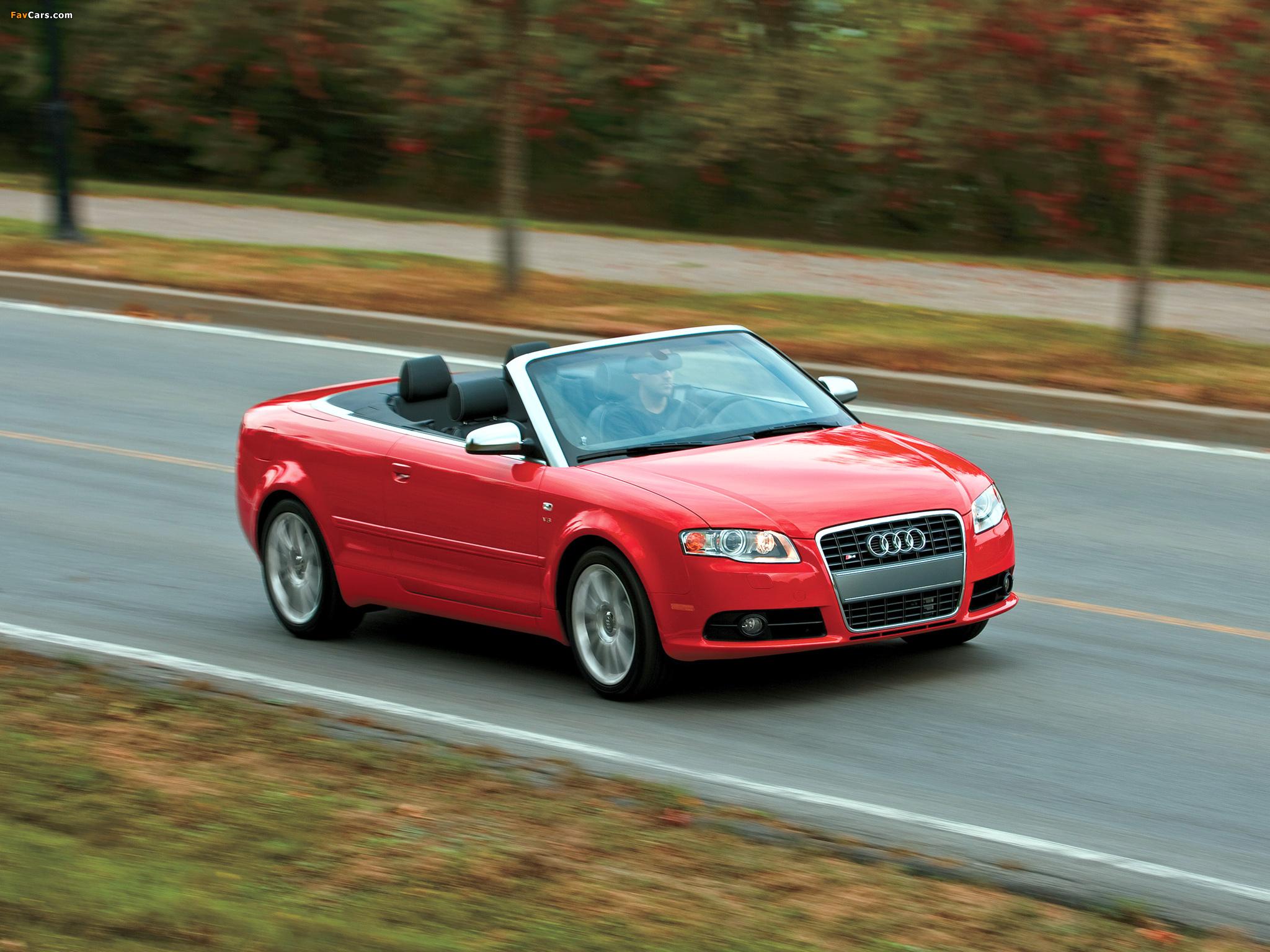 Audi S4 Cabriolet US-spec (B7,8H) 2007–08 wallpapers (2048 x 1536)