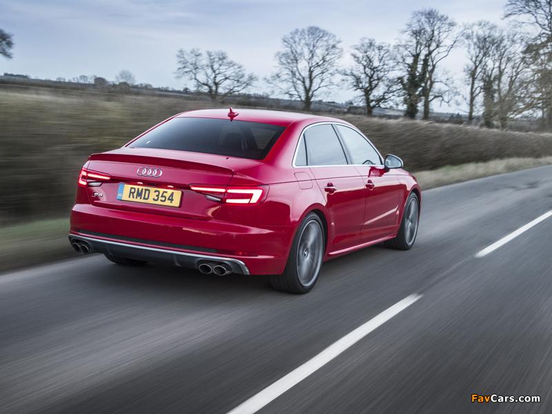 Audi S4 Sedan UK-spec (B9) 2017 wallpapers (800 x 600)