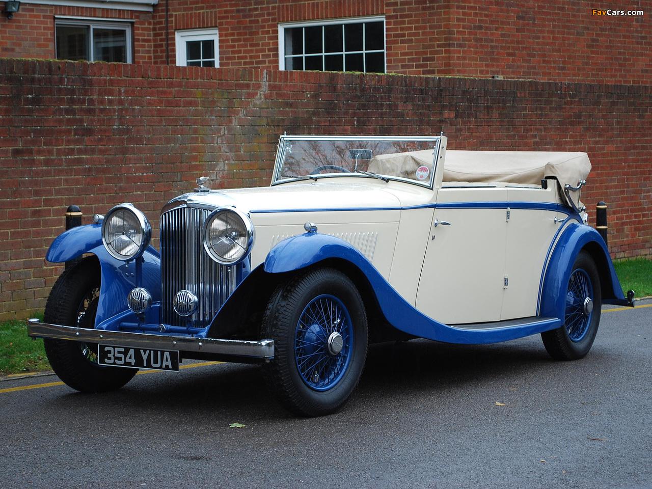 Bentley 3 ½ Litre All Weather Tourer by Mulliner 1934 images (1280 x 960)