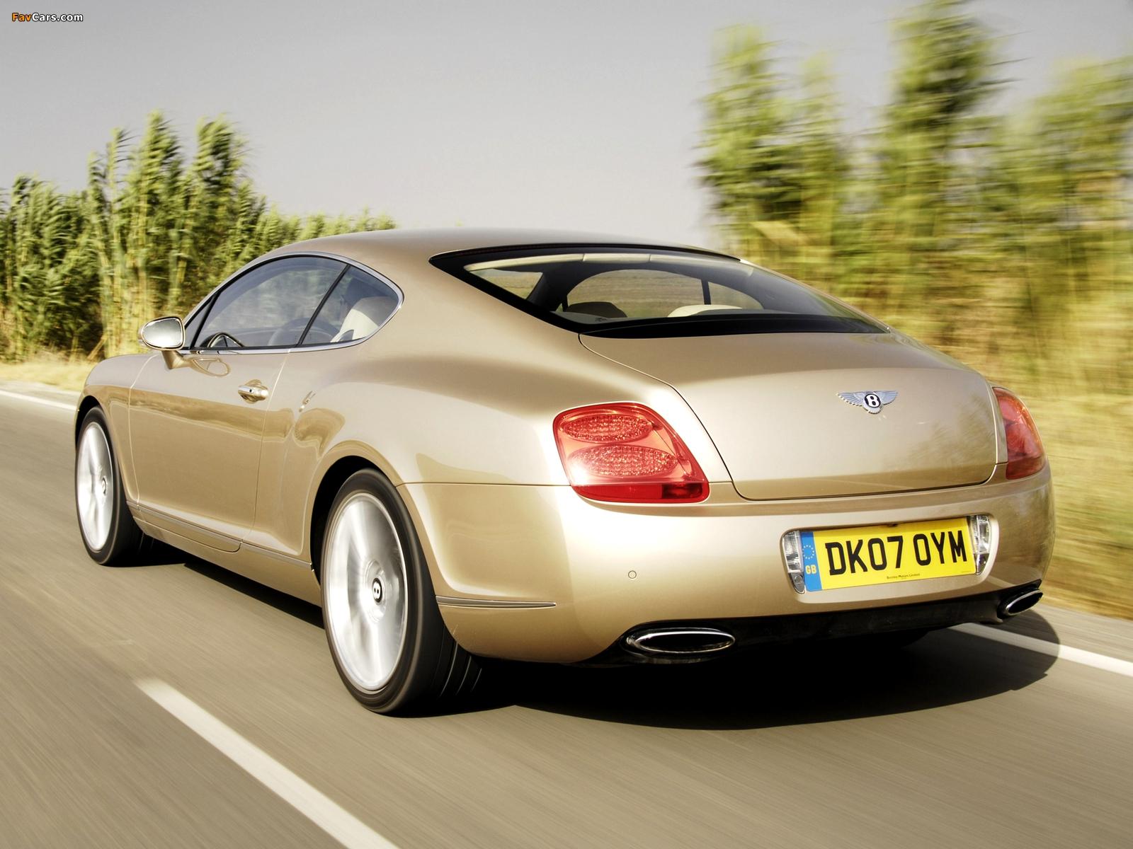 Bentley Continental GT Speed 2007–11 wallpapers (1600 x 1200)