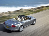 Bentley Continental GT Convertible 2011–15 photos