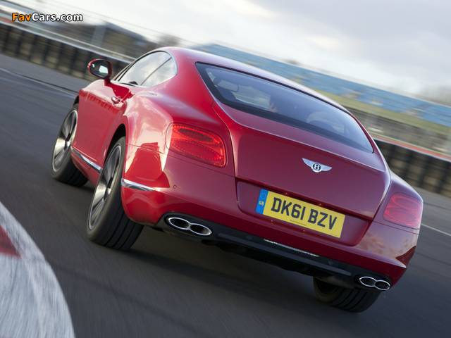 Bentley Continental GT V8 UK-spec 2012 photos (640 x 480)