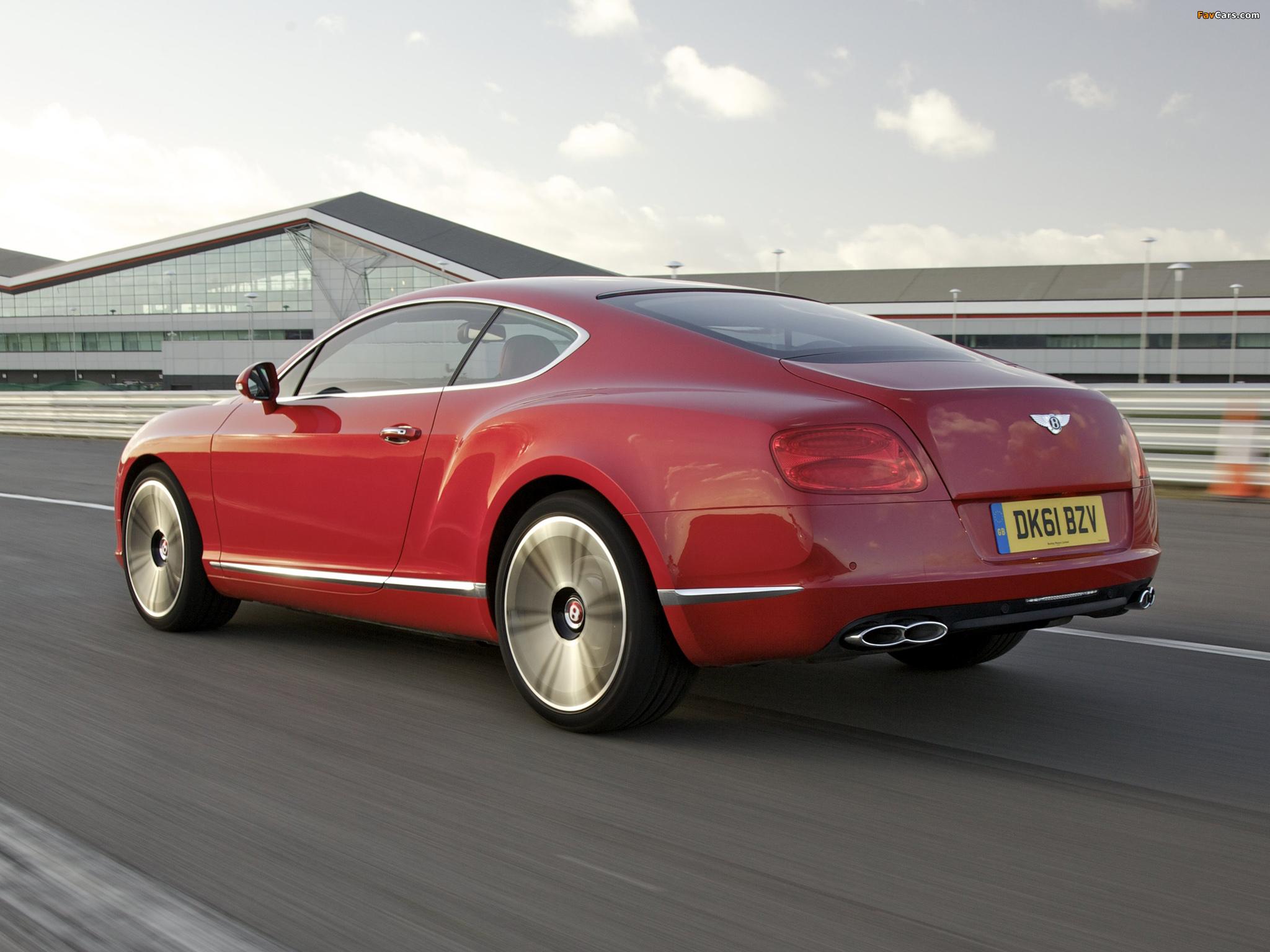 Bentley Continental GT V8 UK-spec 2012 pictures (2048 x 1536)