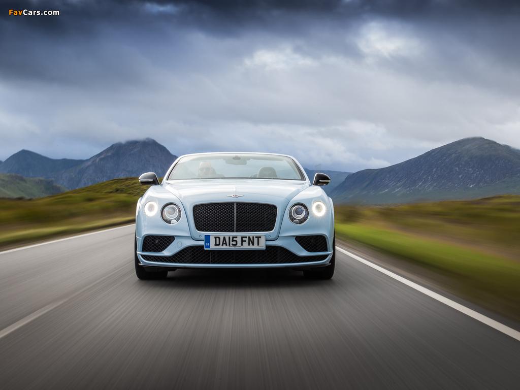 Bentley Continental GT V8 S Convertible UK-spec 2015 photos (1024 x 768)