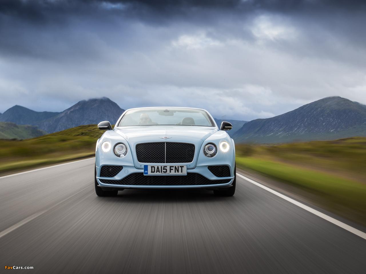 Bentley Continental GT V8 S Convertible UK-spec 2015 photos (1280 x 960)