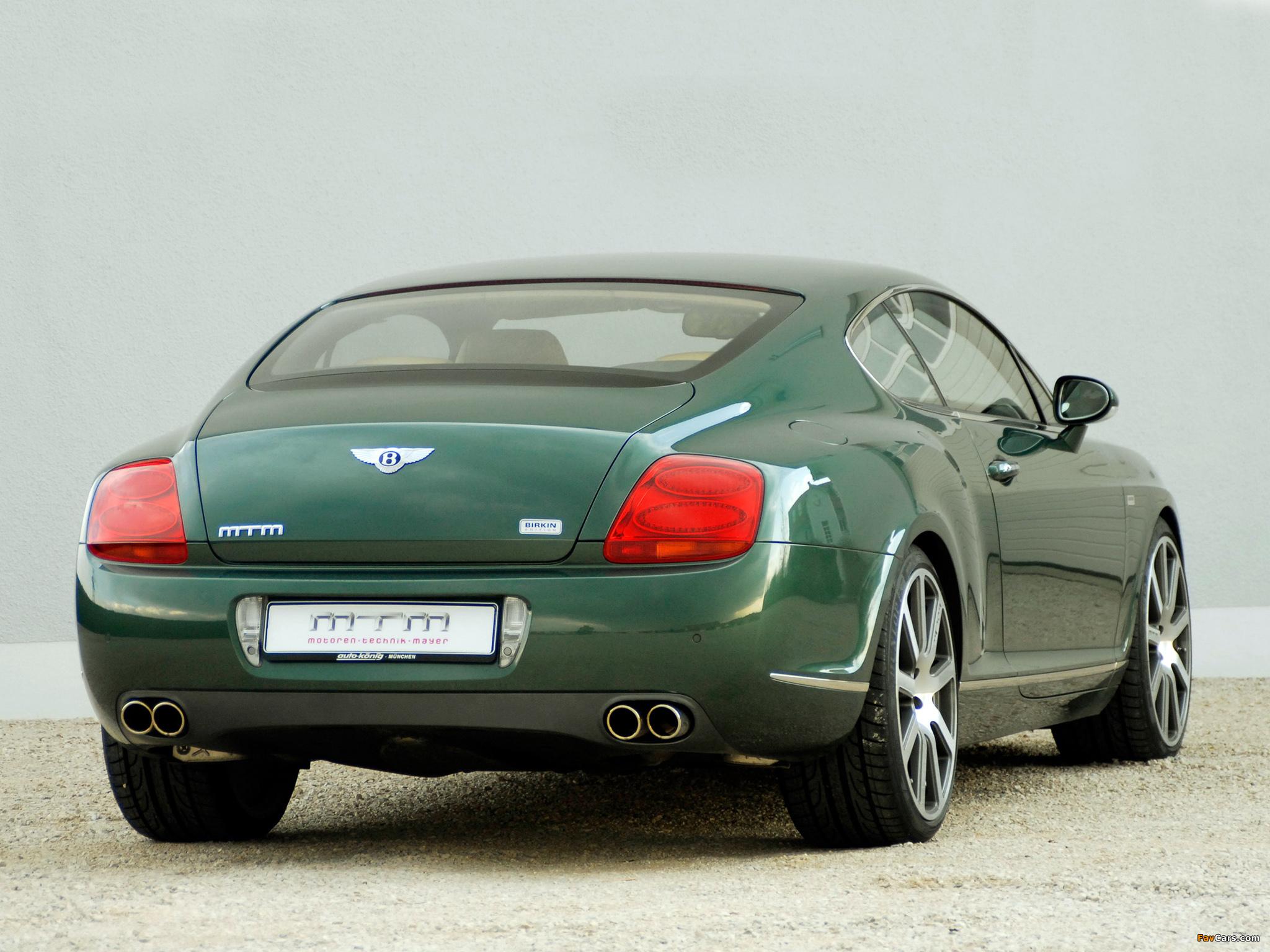 Photos of MTM Bentley Continental GT Birkin Edition 2006 (2048 x 1536)