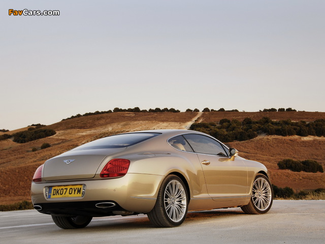 Photos of Bentley Continental GT Speed 2007–11 (640 x 480)