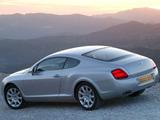 Bentley Continental GT UK-spec 2003–07 wallpapers