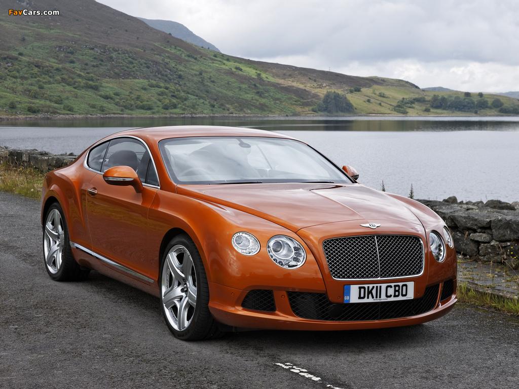 Bentley Continental GT UK-spec 2011 wallpapers (1024 x 768)