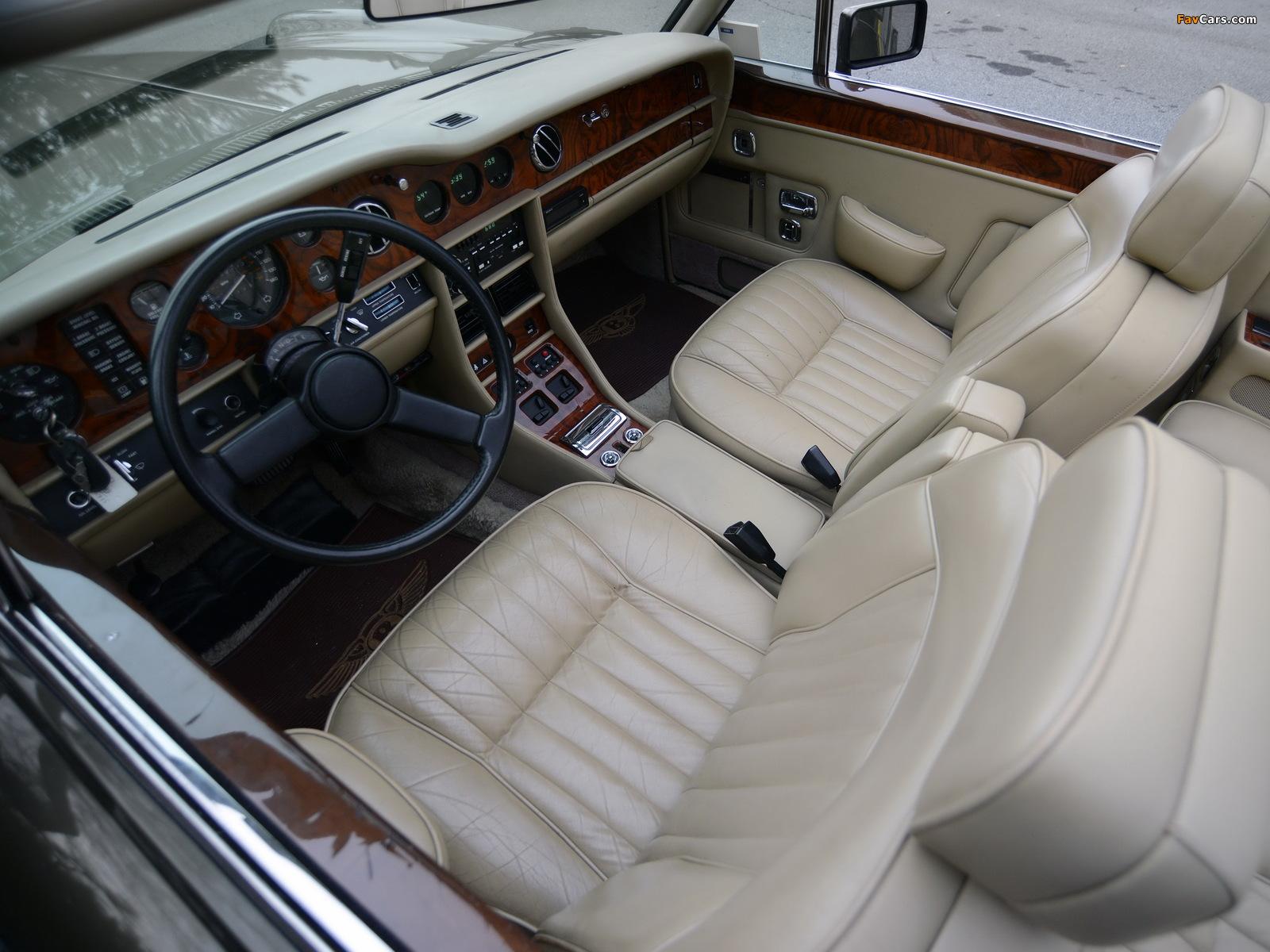 Bentley Continental Convertible 1984–89 wallpapers (1600 x 1200)