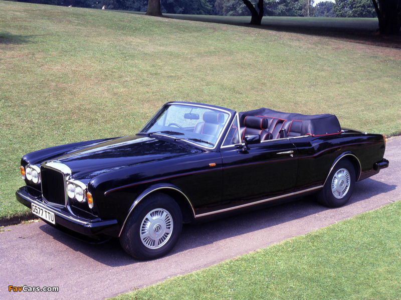 Bentley Continental Convertible UK-spec 1992–95 wallpapers (800 x 600)